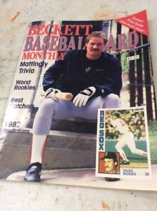 Beckett Baseball Magazine Monthly Price Guide Wade Boggs Jan Feb 1987