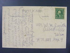Albertville Wisconsin WI 1915 Cancel Postmark Postcard DPO 1892-1934 Chippewa Co