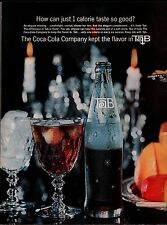1964 COCA-COLA TAB Diet Soda AD w/large image of bottle...Vintage Advertising