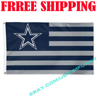 Deluxe Dallas Cowboys USA Stars Stripes Flag Banner 3x5 ft NFL 2019 Fan Gift NEW