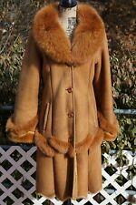 Real Fox Fur Long Coat Size Medium! Must see!