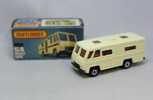 Matchbox Lesney Superfast No54 MOBILE HOME in CREAM with DARKER BROWN DOWN