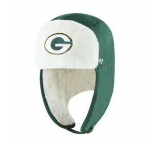 Green Bay Packers '47 Trapper Winter Hat cap warm green fuzzy NFL