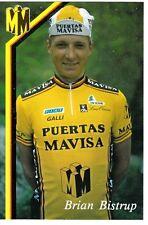CYCLISME carte cycliste BRIAN BISTRUP équipe PUERTAS MAVISA