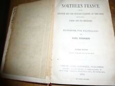 Baedeker. Norther France 1905. Travellers Handbook.