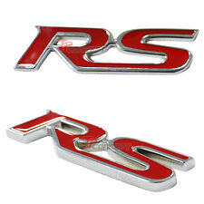 3D Metal Red RS Logo Front Hood Grill Grille Racing Emblem Badge Decal Sticker