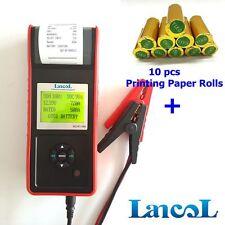 MICRO-568 12V Digital Car Battery Load Tester with Printer CCA Diagnostic Tool