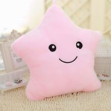 LED Colorful Stuffed Dolls Glowing Stars Plush Pillows Cushion Light Up Toy Pink