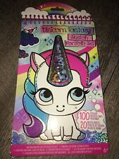 Fashion Angels Unicorn Sketch Portfolio Art Set Claire's Stickers