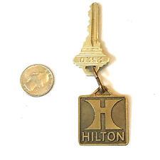 Hilton Hotel Cincinnati Ohio, Key Ring Chain + Key Vintage Keychain Room, Rare