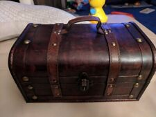 ecorative Treasure Box - Wooden Trunk Chest