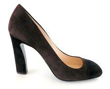 Prada Shoe Brown and Black Suede Pump  39 / 9  New