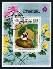 Ras al Khaima 1970 souvenir sheet painting art USED Mi  CV < $5.00 180114057