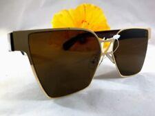 Cat Eye Sunglasses Frame Metal Gold Legs Plastic Brown
