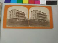 J.A. French New Hampshire Stereoview Photo cdii Boarding House Hotel NH JA