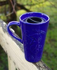 Starbucks Coffee Company Blue Chaleur Ceramic Travel Mug with Lid Mermaid Siren