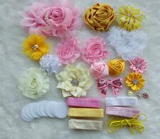 DIY Headband Kit,Baby Shower Headband Kits,shabby flowers Rose lot,Party supply
