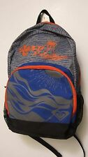 NWT Roxy Girls School Backpack Book Bag Back to School Orange Gray Palm Tree