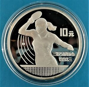OLYMPIC GAMES1992 silver proof coin China 10 yuan 1990 UNC with certificate,.