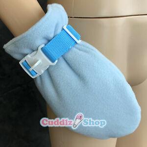 Pair of Cuddlz Adjustable Locking Lockable Adult Mitten Wrist Straps
