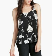 LUCKY BRAND BLACK/IVORY SILK TOP SIZE XS NEW W/ DEFECT $79.50