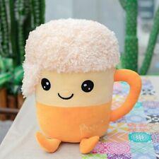 Soft Cute Bubble Tea Cup Shaped Pillow Beer Plush Toys Stuffed Soft Back Cushion