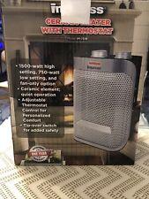 Impress Ceramic Heater W Thermostat Portable