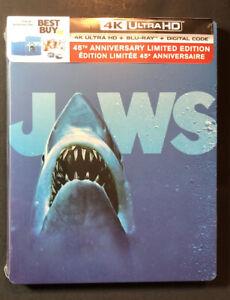 Jaws [ 45th Anniversary Limited Edition STEELBOOK ] (4K Ultra HD + Blu-ray) NEW