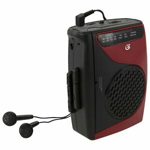 GPX Portable Cassette Player, 3.54 x 1.57 x 4.72 Inches, Requires 2 AA Batteri..