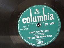 78rpm BIG BEN BANJO BAND swiss kanton polka / leichensteiner polka