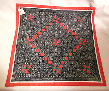Vintage 70's Old Store Stock Batik and  Applique Pillow Cover All Hand Worked