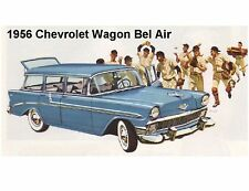 1956 Chevrolet Wagon Bel Air Auto  Refrigerator Magnet