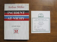 INCIDENT AT VICHY play by Arthur Miller - 1st/1st HCDJ 1965 NF  - review copy