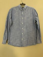 Steel & Jelly Shirt Large Long Sleeve Flip Cuffs Blue Button Down NWOT