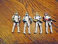 STAR WARS CLONE TROOPER 4 PACK ENTERTAINMENT EARTH OFFICERS LOT LOOSE COMPLETE
