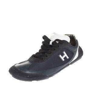 RRP €280 HOGAN Sneakers Size 39.5 UK 6 US 7 Contrast Leather Logo Made in Italy