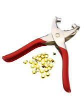 M01533 MOREZMORE Grommet Eyelet Pliers Tool + 100 Eyelets 5 mm ID A60