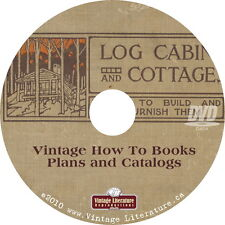 How To Build  Log Cabins { 1908 Vintage Cottage & Home Plans } Books on DVD