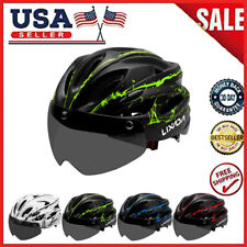 Adult Bike Helmet MTB Road Bicycle Sports Safety Hat with Removable Goggles USA