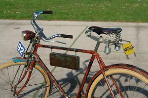 "Custom Vintage steampunk Bicycle rat rod Bike  28"" Cruiser antique Store Display"