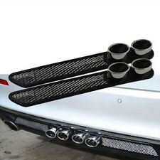 2x Fake exhaust pipe decoration Car Rear Bumper Anti-collision protector Guard