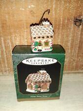 1997 Home Sweet Home Gingerbread House Hallmark Miniature Ornament