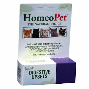 HomeoPet Feline Digestive Upsets 15 ml   Homeopathic Stomach Relief for Cats