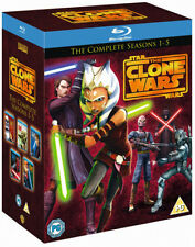 STAR WARS CLONE WARS Complete Season Series 1 2 3 4 5 Boxset NEW BLU-RAY