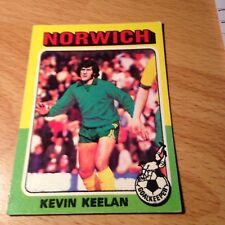 Topps 1975/76 Red/Grey Back Card #154 Kevin Keelan of Norwich