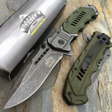 Green Military StyleSpring Assisted Survival Camping Rescue Pocket Knife