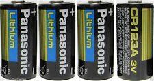 4 Panasonic CR123A Cr123 CR 123 Lithium Batteries exp 2024