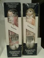 The Heritage Mint Collection Dolls Rebecca D-32 & Suzette D34 Set New in Boxes