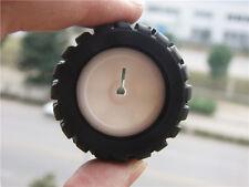 43*19*3mm D-hole Rubber Wheels D Shaft Rubber Tire Car Robot Tires K346