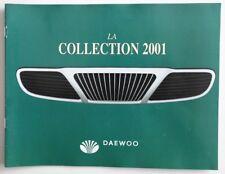DAEWOO 2001 Full Line Lanos Nubira dealer brochure catalog - French - Canada